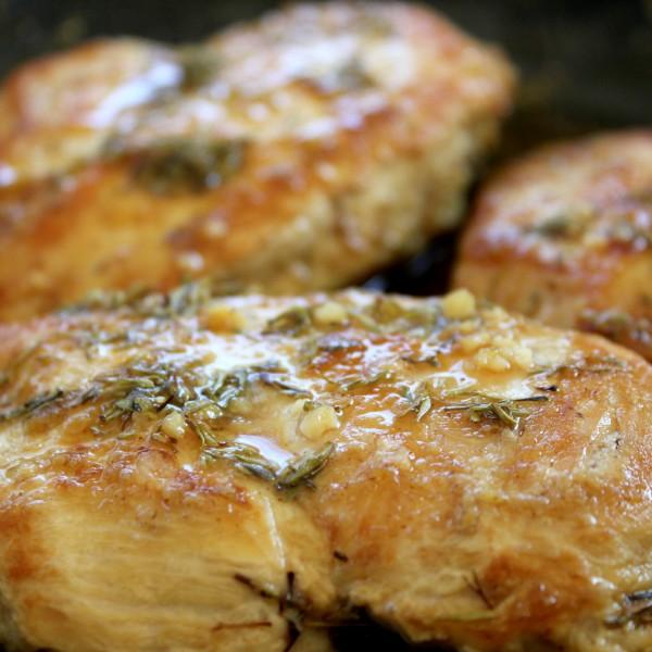 Seared Chicken with Maple Mustard Glaze